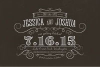 Save The Date Postcard | Volume 3 | Chalkboard